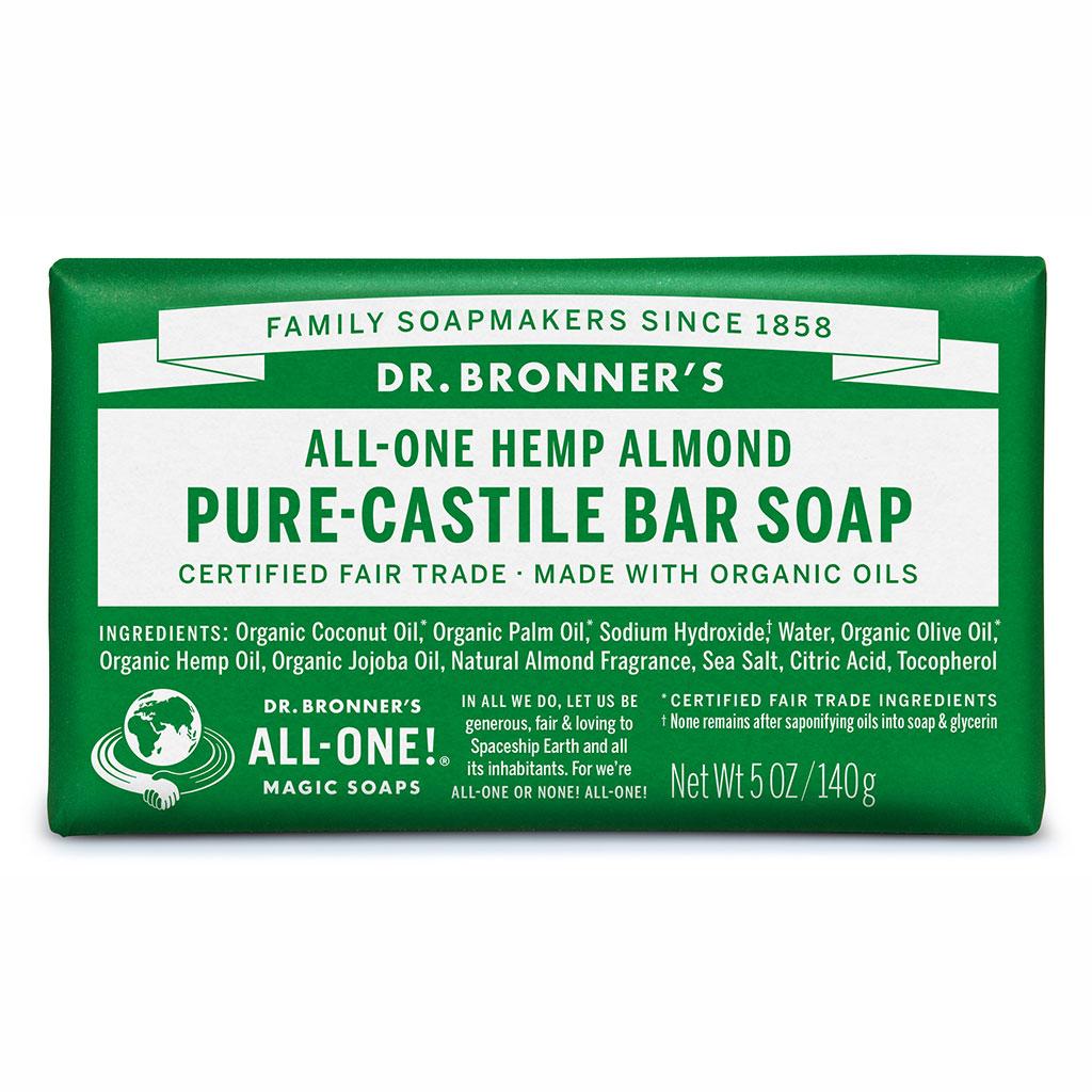 Dr Bronner's Bar_Soap-140g-Almond