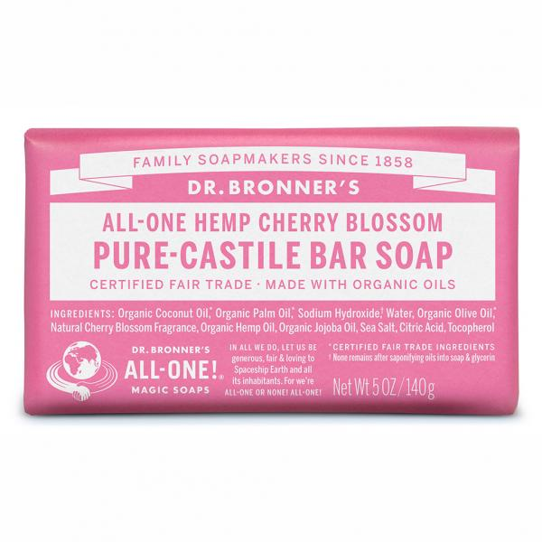 Dr Bronner's Bar_Soap-140g-Cherry_Blossom