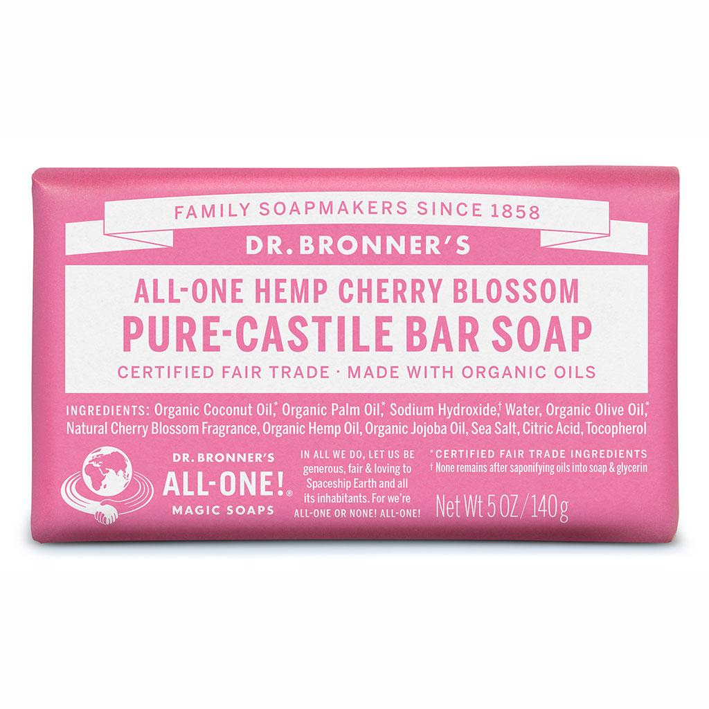 Dr Bronner's Bar_Soap-140g-Cherry_Blossom