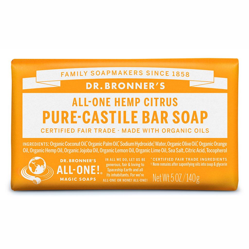 Dr Bronner's Bar_Soap-140g-Citrus