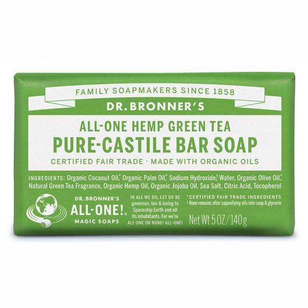 Dr Bronner's Bar_Soap-140g-Green_Tea