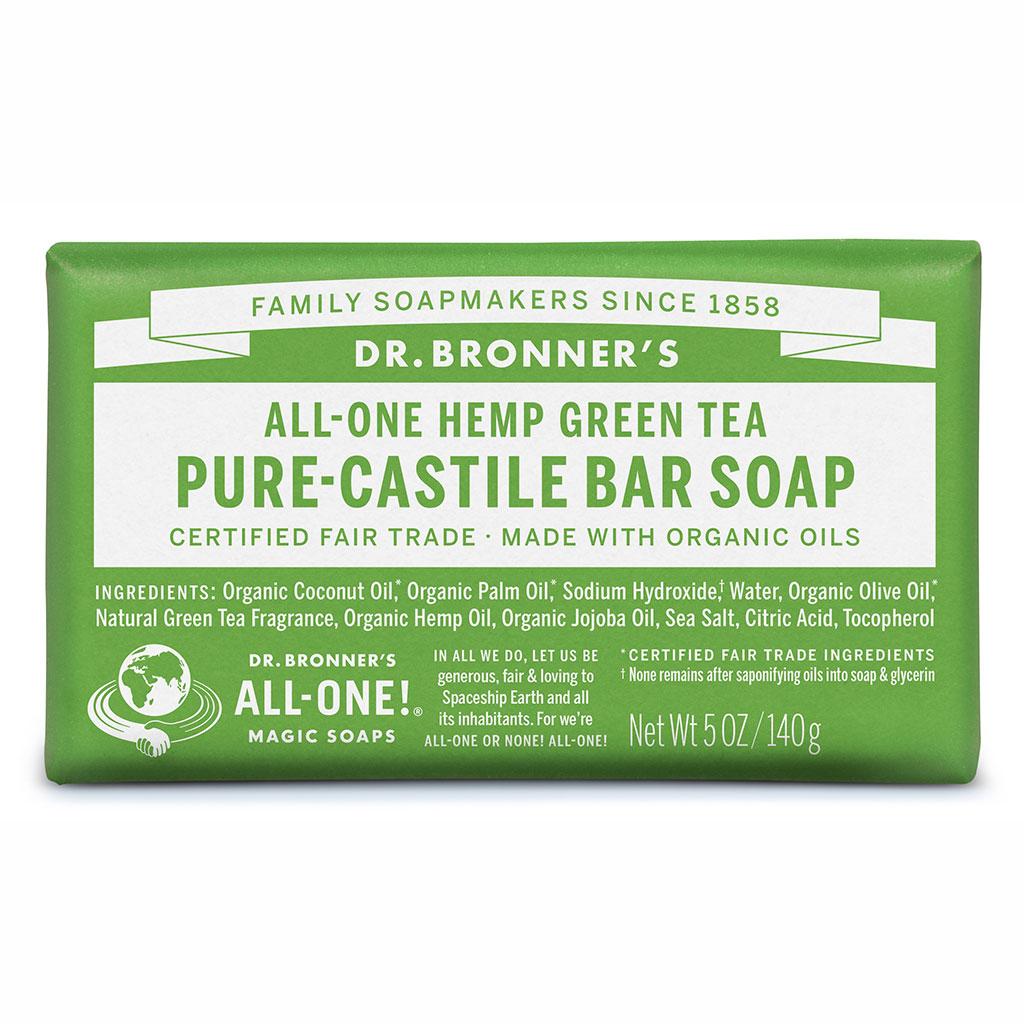 Dr Bronner's Bar_Soap-140g-Green_Tea