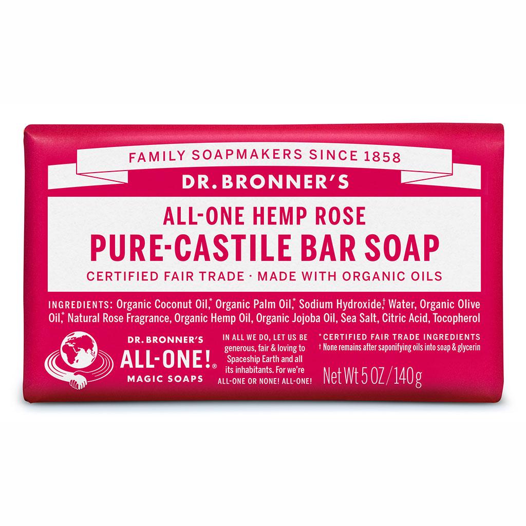 Dr Bronner's Bar_Soap-140g-Rose