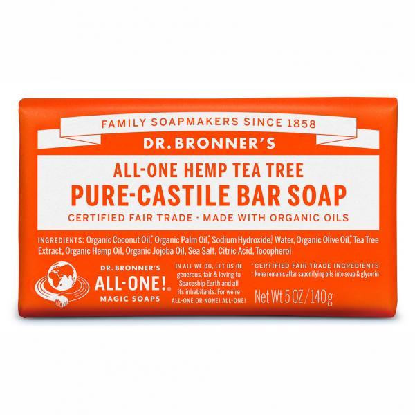 Dr Bronner's Bar_Soap-140g-Tea_Tree
