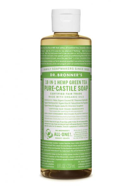 Dr Bronner's Liquid_Soap-237ml-Green_Tea