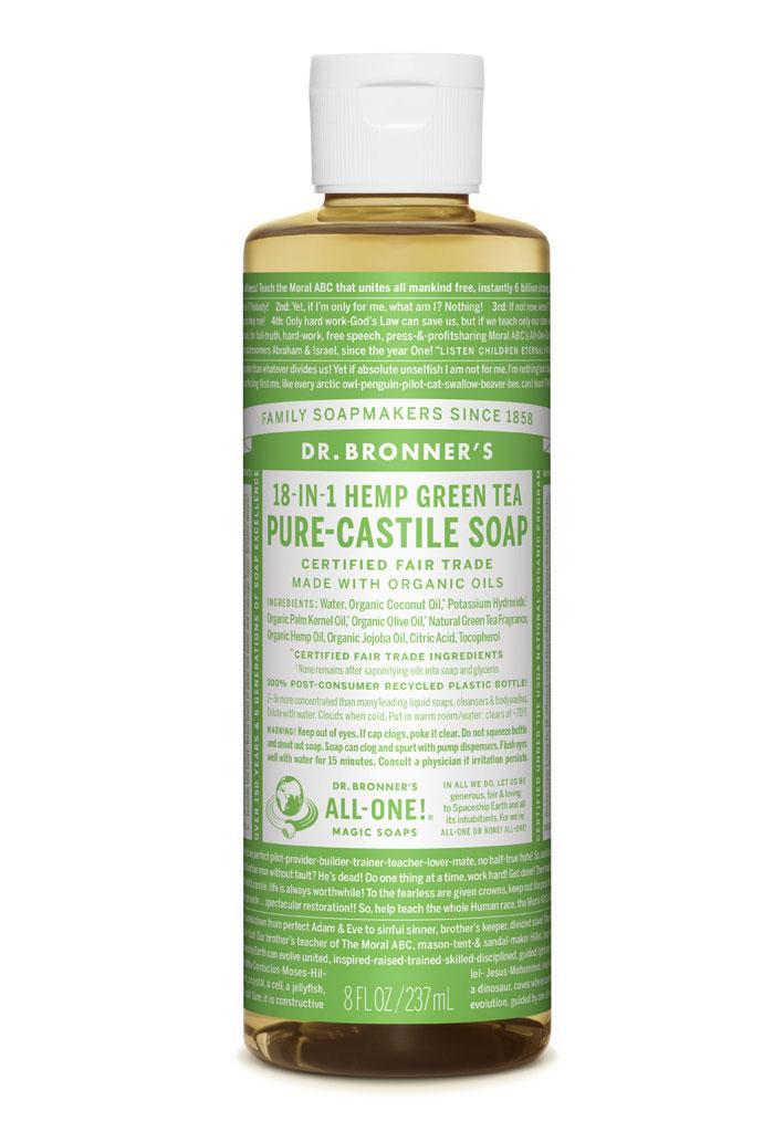 Dr Bronner's Liquid_Soap-237ml-Green_Tea