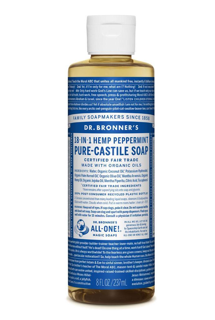 Dr Bronner's Liquid_Soap-237ml-Peppermint