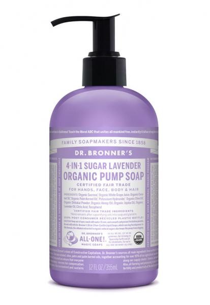 Dr Bronner's Pump_Soap-355ml-Lavender