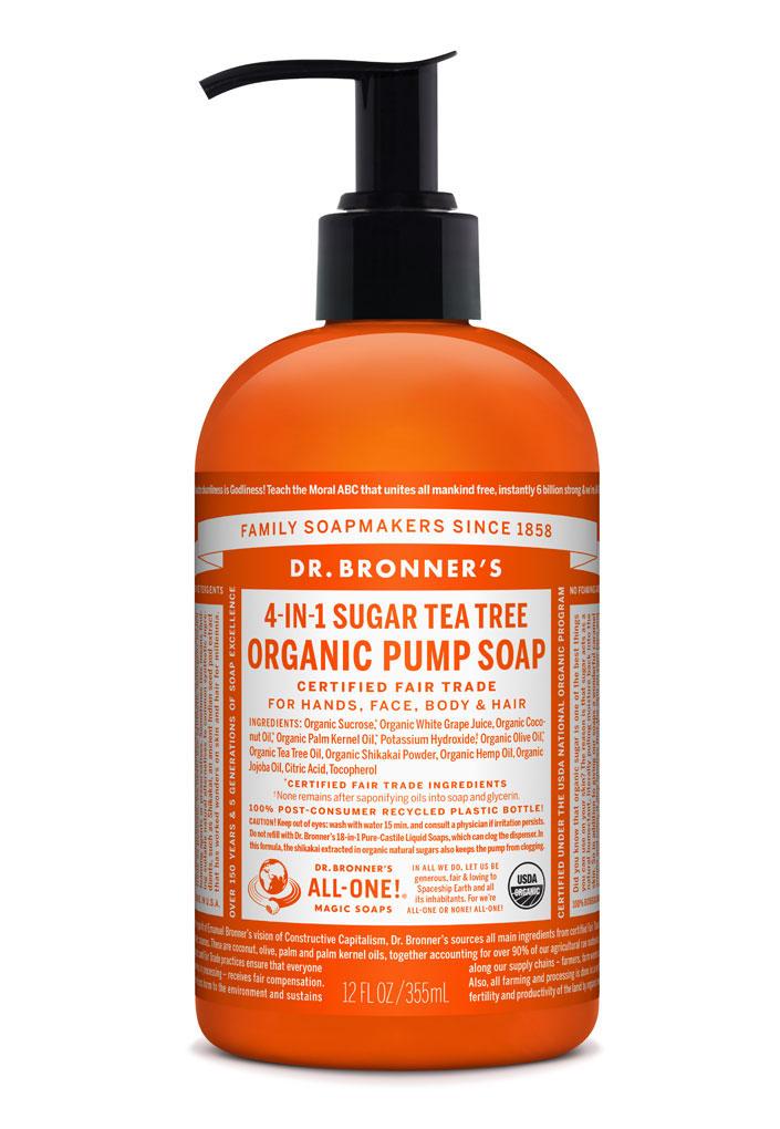 Dr Bronner's Pump_Soap-355ml-Tea_Tree