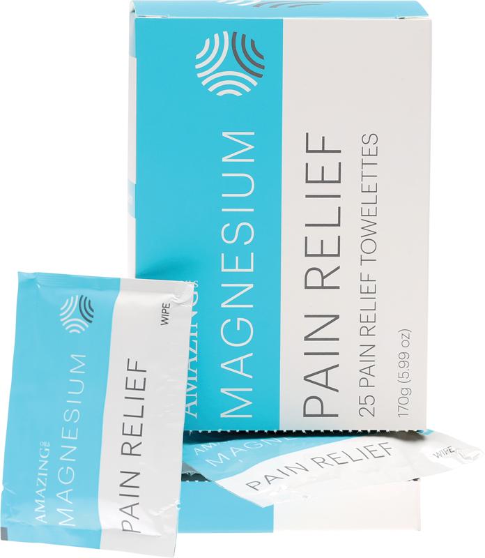 Amazing Oils Organic Magnesium Pain Relief Towelettes