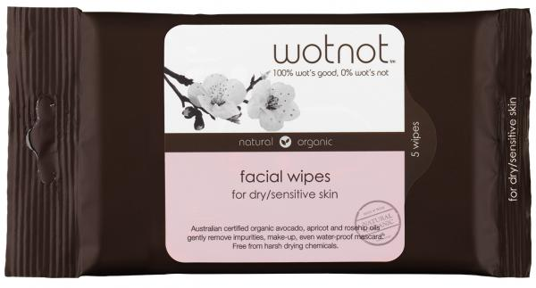 Wotnot Facial wipes Dry/sensitive 5pk