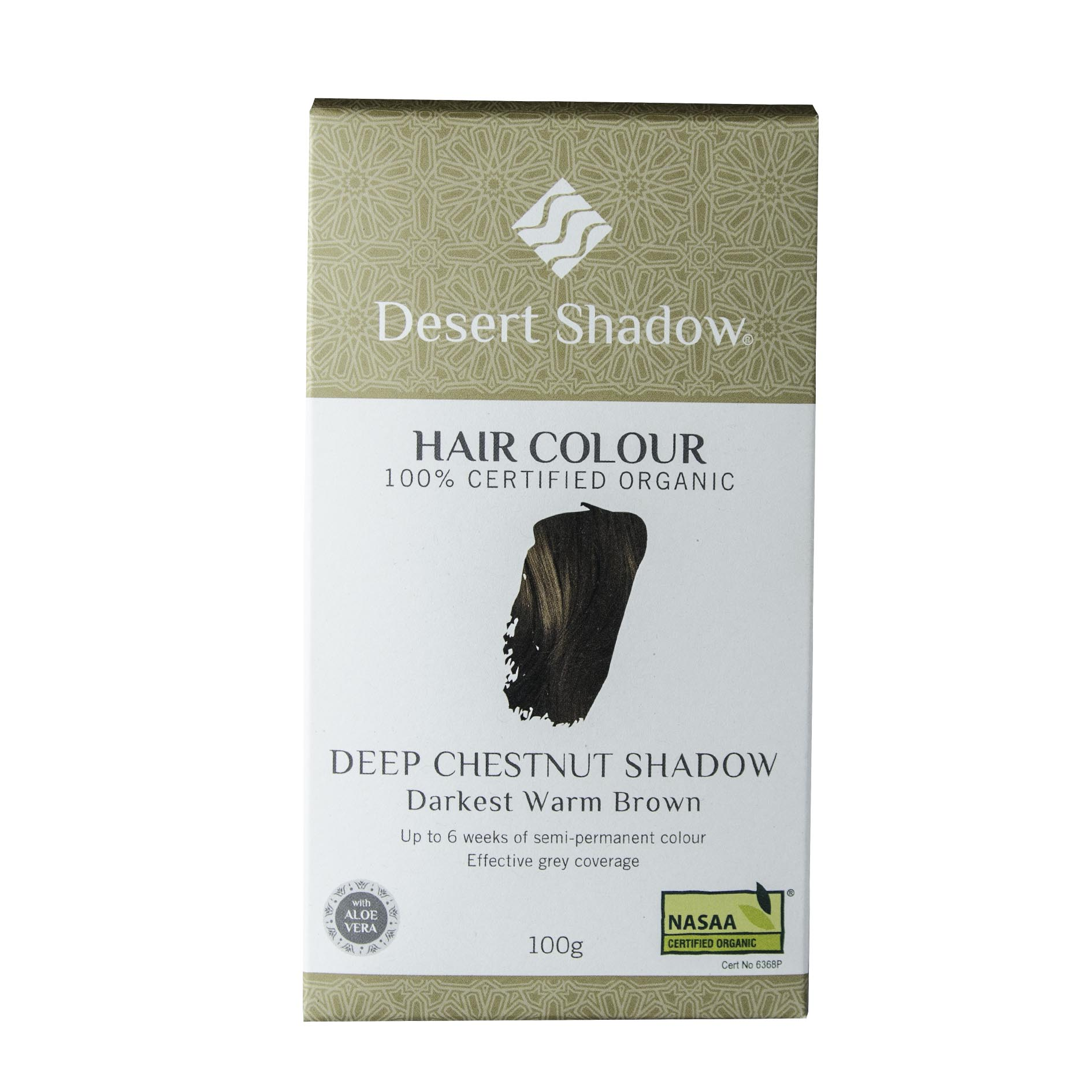 Desert Shadow Organic Hair Dye Deep Chestnut Shadow