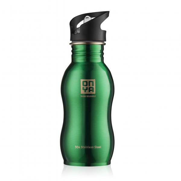 Onya Stainless Steel Drink Bottle 500ml Green
