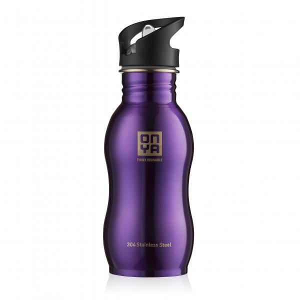 Onya Stainless Steel Drink Bottle 500ml Purple