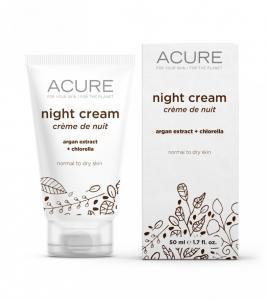 Acure Night Cream with argan extract +chlorella