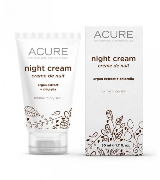 Acure Night Cream with argan extract +chlorella