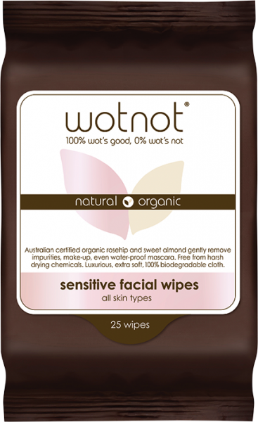 Wotnot Sensitive Facial Wipes 25's