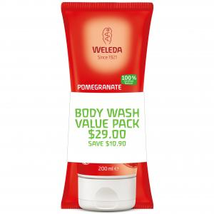 Weleda Creamy Body Wash Duo Pomegranate