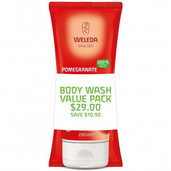 Weleda Creamy Body Wash Duo Pomegranate