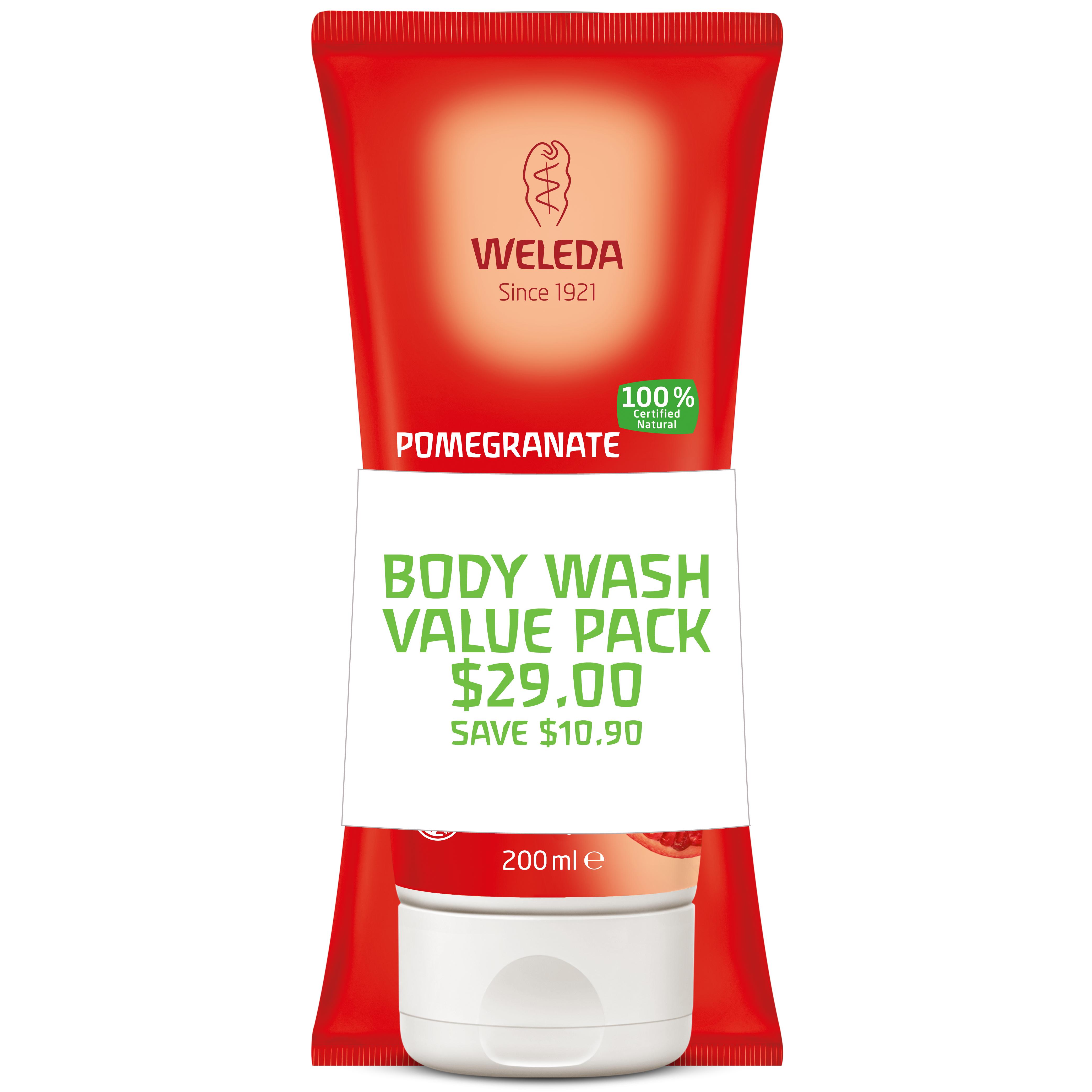 Weleda Body Wash Duo Pomegranate