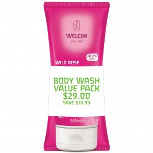 Weleda Body Wash Duo Wild Rose 2x200ml